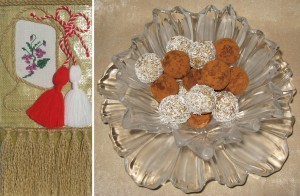Сурови копринени бонбони - Честита Баба Марта