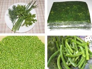 Замразяване на зеленчуци и плодове във фризер