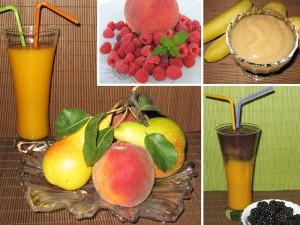 Лятото, събрано в чаша плодов сок