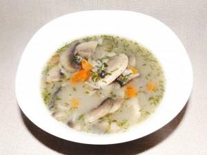 Гъбена супа със зеленчуци