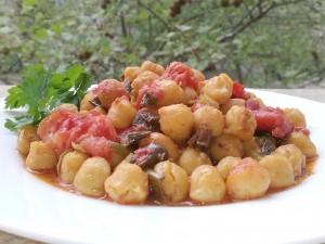 chick-peas-sauce