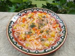 vegetable marrow - rice